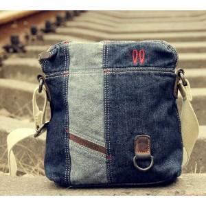 Canvas messenger bags for men, canvas leather satchel