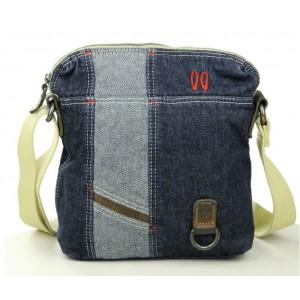 blue Canvas messenger bags for men