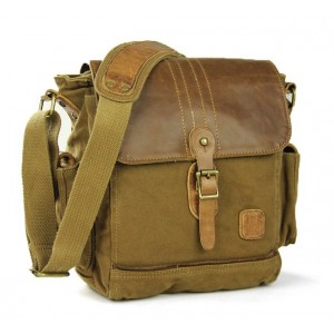 IPAD mens canvas satchels, small canvas shoulder bag