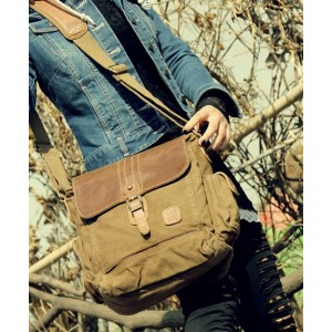 khaki IPAD mens canvas satchels