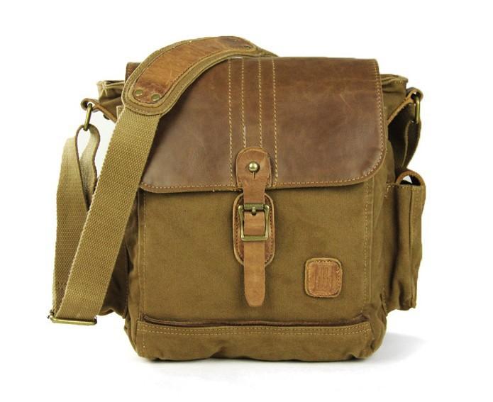 ... khaki IPAD mens canvas satchels  khaki small canvas shoulder bag ... 9a30860474a41