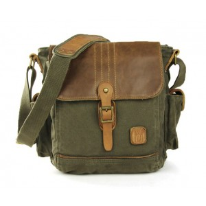 army green IPAD mens canvas satchels