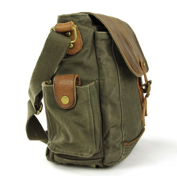 IPAD mens canvas satchels, small canvas shoulder bag - YEPBAG