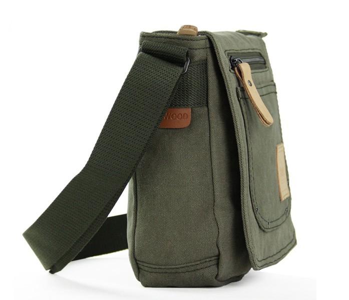 Men canvas satchel bags, mens small canvas shoulder bag - YEPBAG