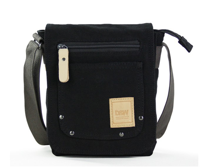 ... black mens small canvas shoulder bag 411f0f68e33b6