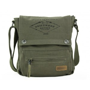 army green Canvas messenger bag