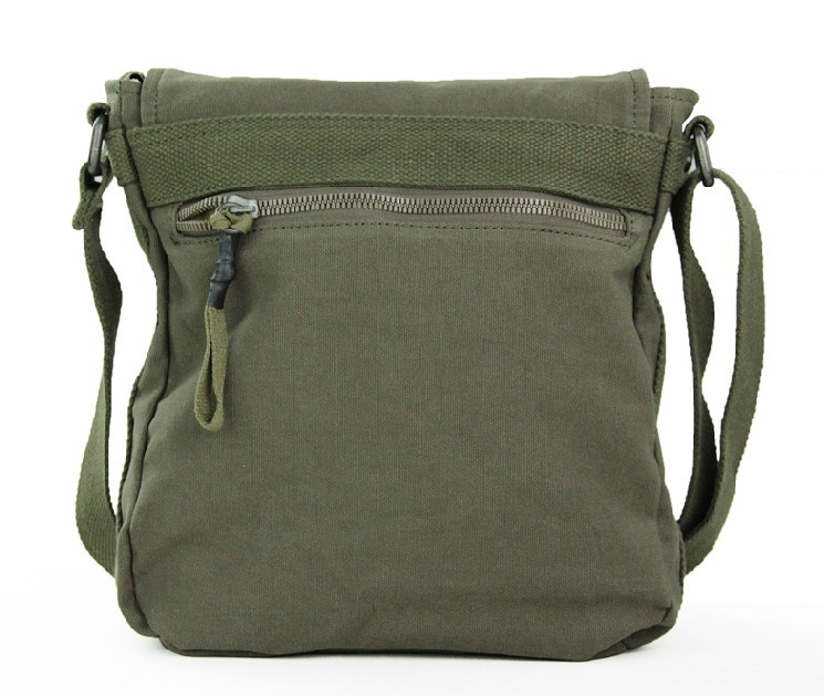 Canvas messenger bag, army canvas shoulder bag - YEPBAG