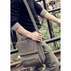 mens Canvas messenger bag