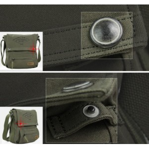 mens army canvas shoulder bag