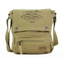 Canvas messenger bag, army canvas shoulder bag