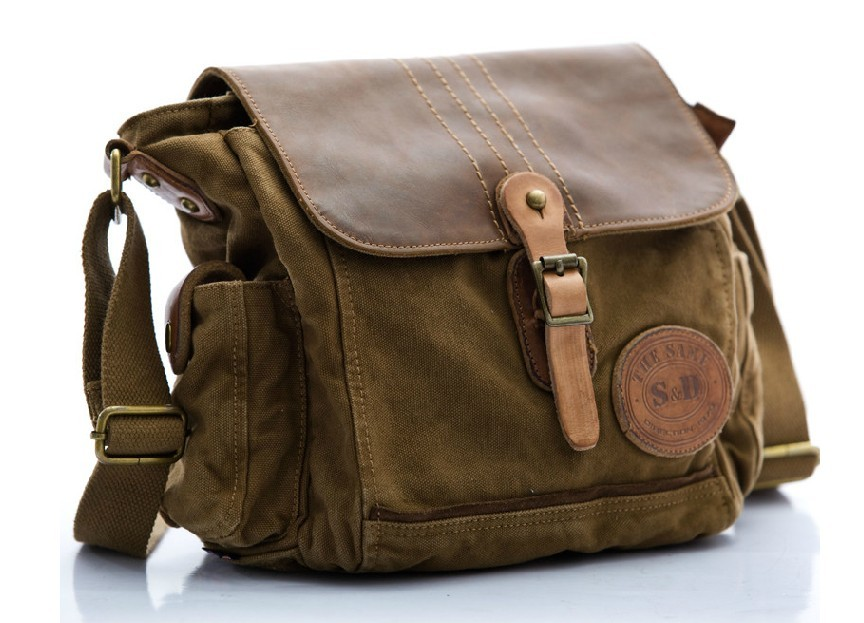 mens canvas messenger bags canvas and leather messenger