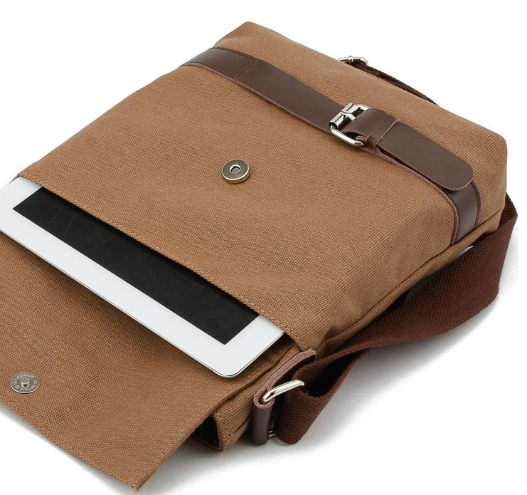 IPAD mens canvas satchels, canvas leather messenger bag - YEPBAG