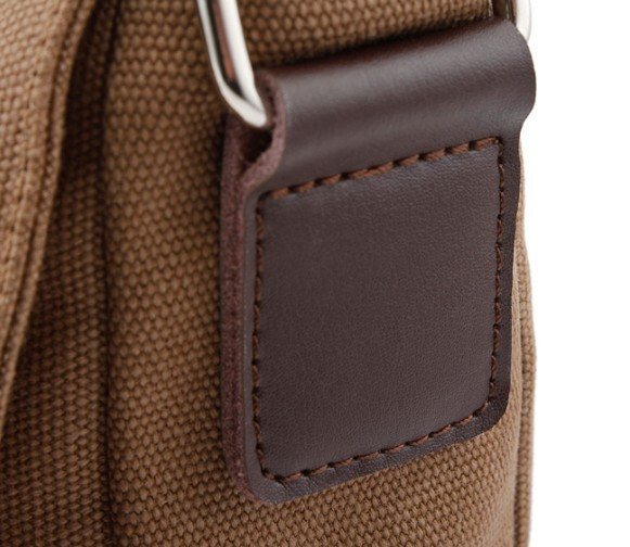 ... coffee IPAD mens canvas satchels  coffee canvas leather messenger bag 352025f42bbef
