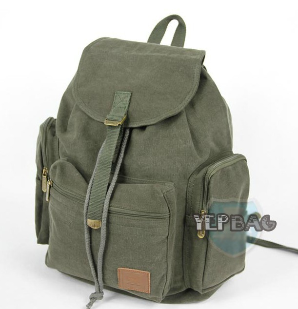 57f32784e3a ... army green Canvas backpack for girl  army green canvas knapsack backpack  ...