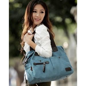 blue handbag canvas