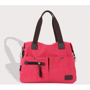 red handbag canvas