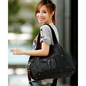 black handbag canvas