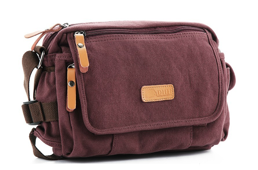 c3c8b598b539 Canvas messenger bag for women ...