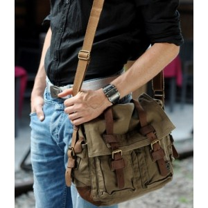 army green Shoulder bags for men