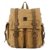 Canvas backpack school bag