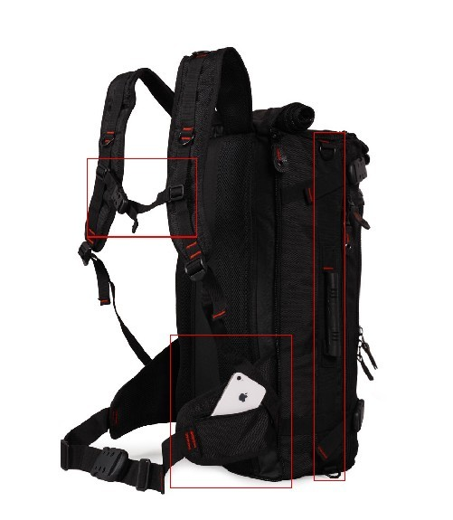 Nylon backpack, oversized backpacks - YEPBAG