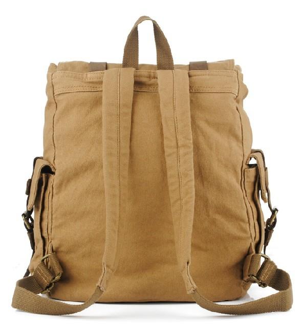 Canvas Backpack School Bag Knapsack