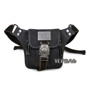 black slim fanny pack