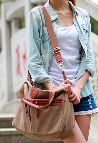 f6e92aaca0e ... brown shoulder book bag  mens School bag ...