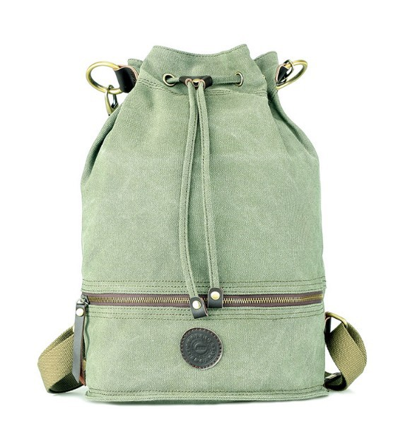 Canvas drawstring backpack, canvas knapsack - YEPBAG