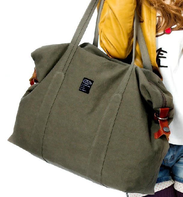 Ladies canvas satchels, large tote bag for travel - YEPBAG