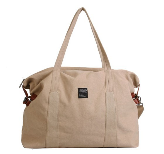 9deb69ed31 ... tote bag for travel  apricot Ladies canvas satchels ...