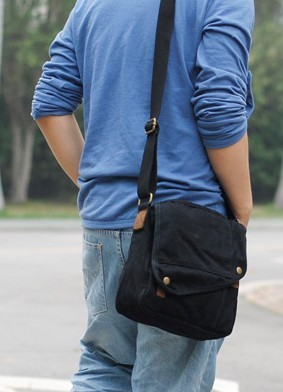 ... black canvas shoulder bags for men ... f288ed922f65f