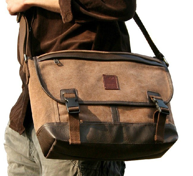 Canvas messenger bags men, canvas shoulder bag - YEPBAG