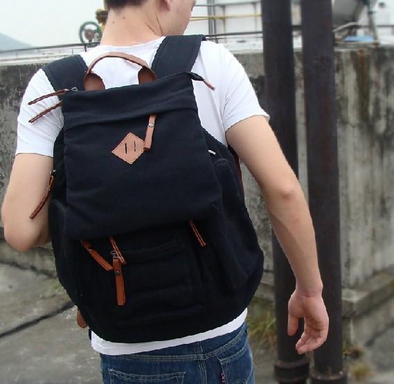 Black Backpack Messenger Bag