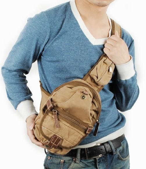 ... khaki back pack for school  mens One shoulder backpack ... 280ff8a051e7