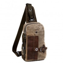 Messenger sling bag, vintage backpack