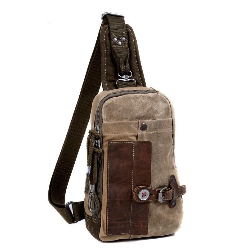 Messenger sling bag, vintage backpack - YEPBAG
