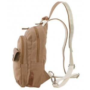khaki urban sling bag