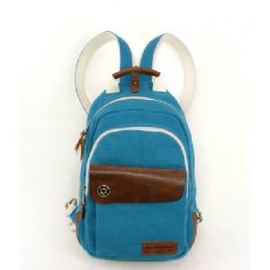 blue Mini backpack purse