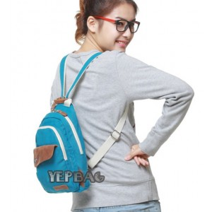 Mini backpack purse blue