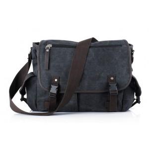 black Canvas messenger bag men