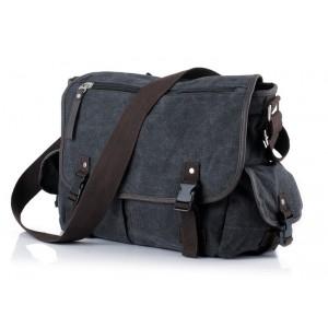 black canvas shoulder bags
