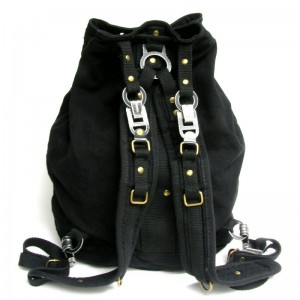 canvas backpack men black