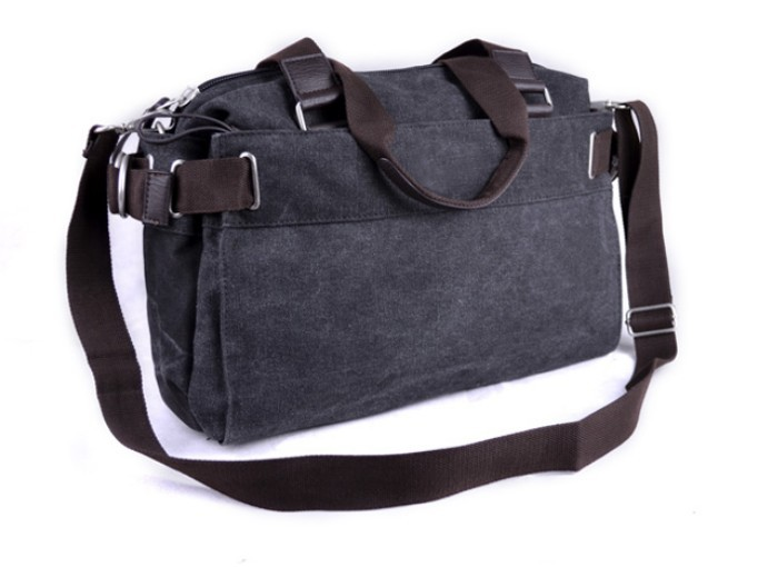 Black Messenger Book Bag