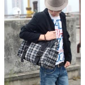 grey messenger handbag