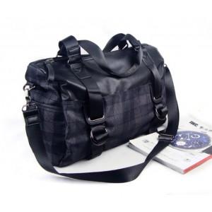 black messenger handbag