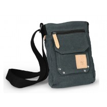 Across shoulder bag, canvas zipper bag