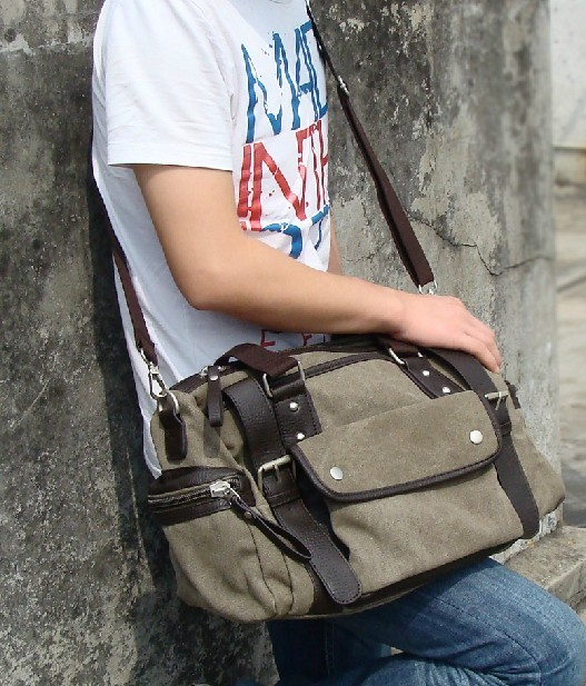 5b9579709e73 ... men  army green Stylish messenger bag ...