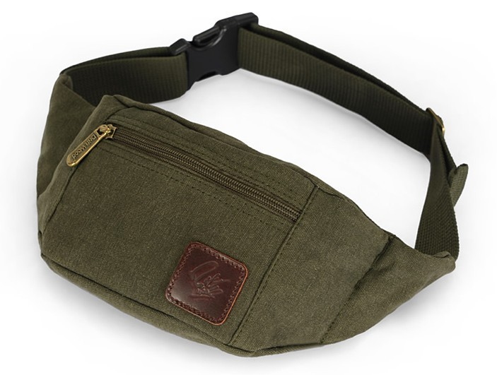 army green Fanny pack women  army green canvas ... c955173f2