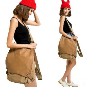 khaki Messenger backpack